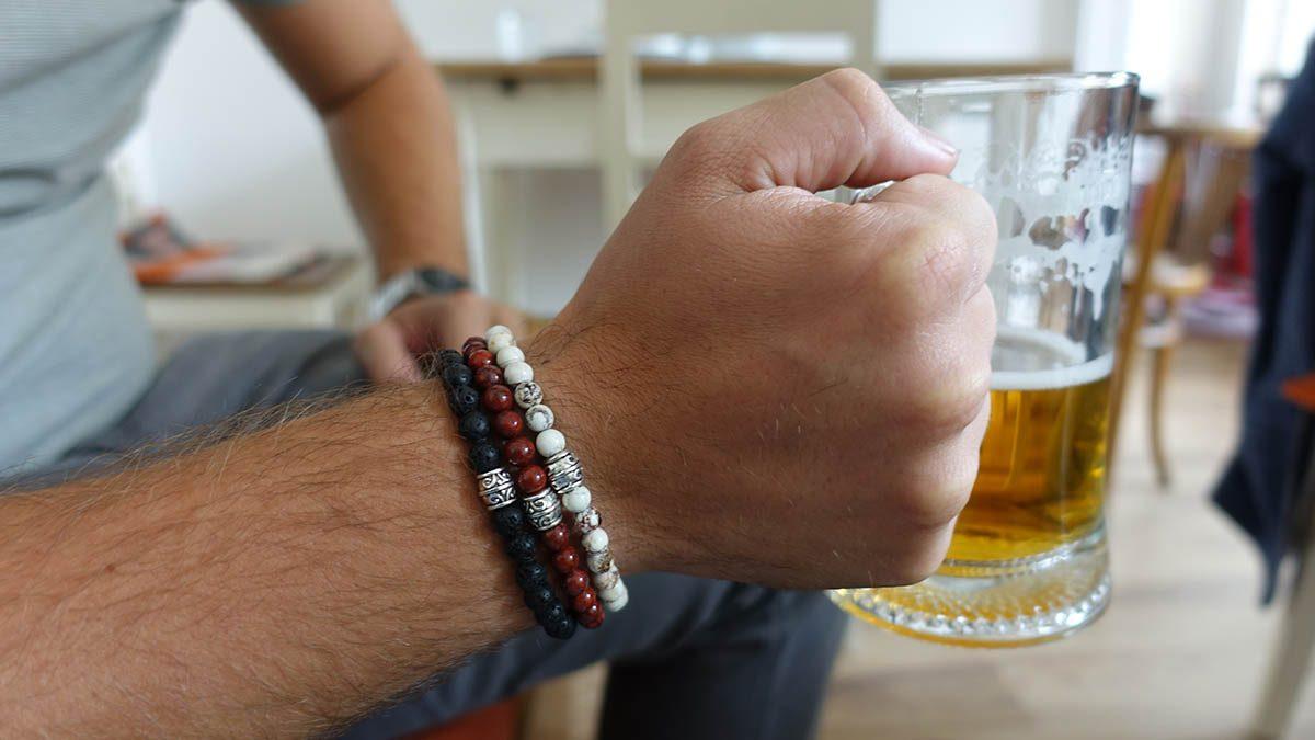 Basic Bracelets Howlite x Red Agate x Lava Stone