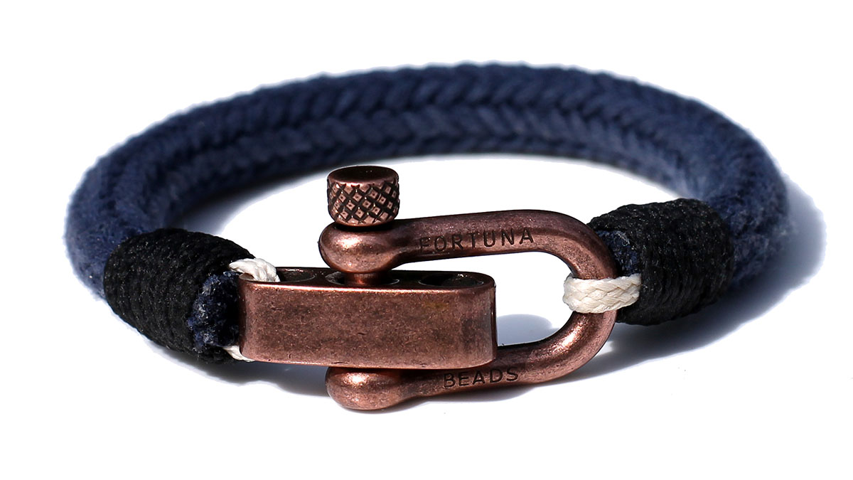 Nautical C1 Copper Blue Bracelet Product Image Front