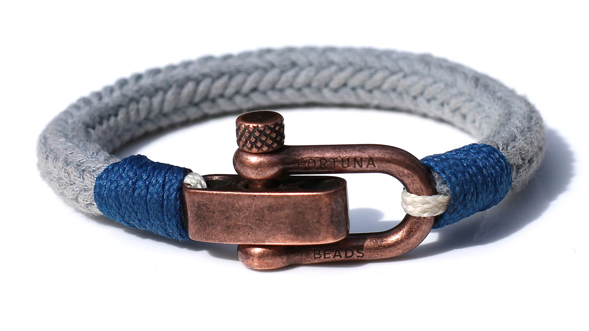 Nautical C2 Copper Grey Bracelet Product Image Front