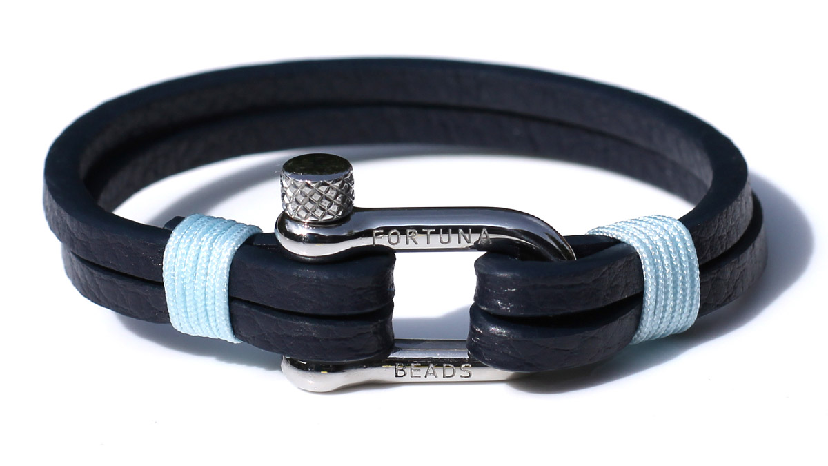 Nautical L3 Steel Blue Bracelet Product Image Front