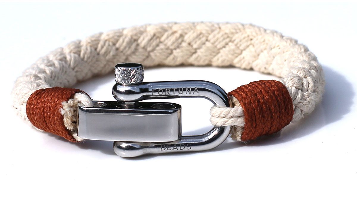 Nautical S1 Steel Sand Rope Bracelet Product Image Front