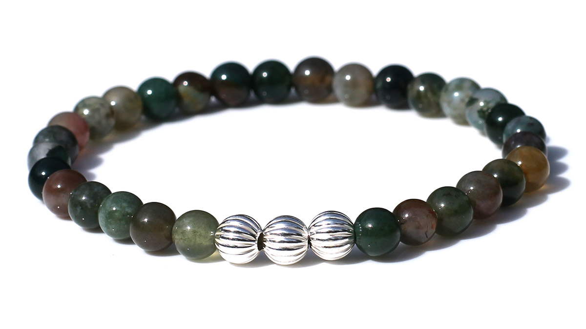 Minimal Green Indian Agate Product Image Front