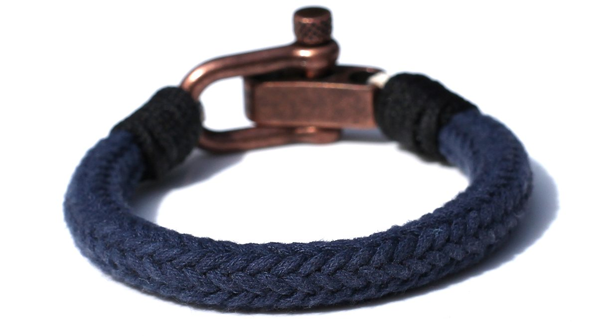 Nautical C1 Copper Blue Bracelet Product Image Back