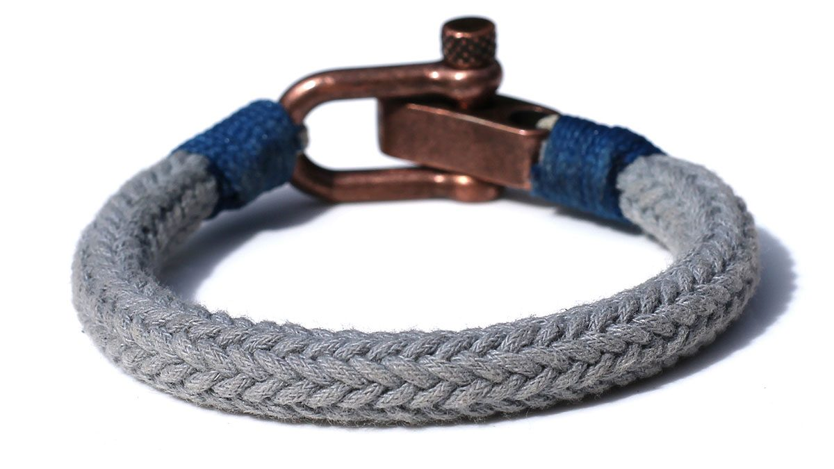 Nautical C2 Copper Grey Bracelet Product Image Back