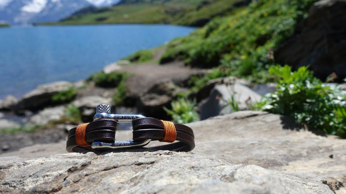 Nautical L2 Steel Brown Bracelet Setting 1