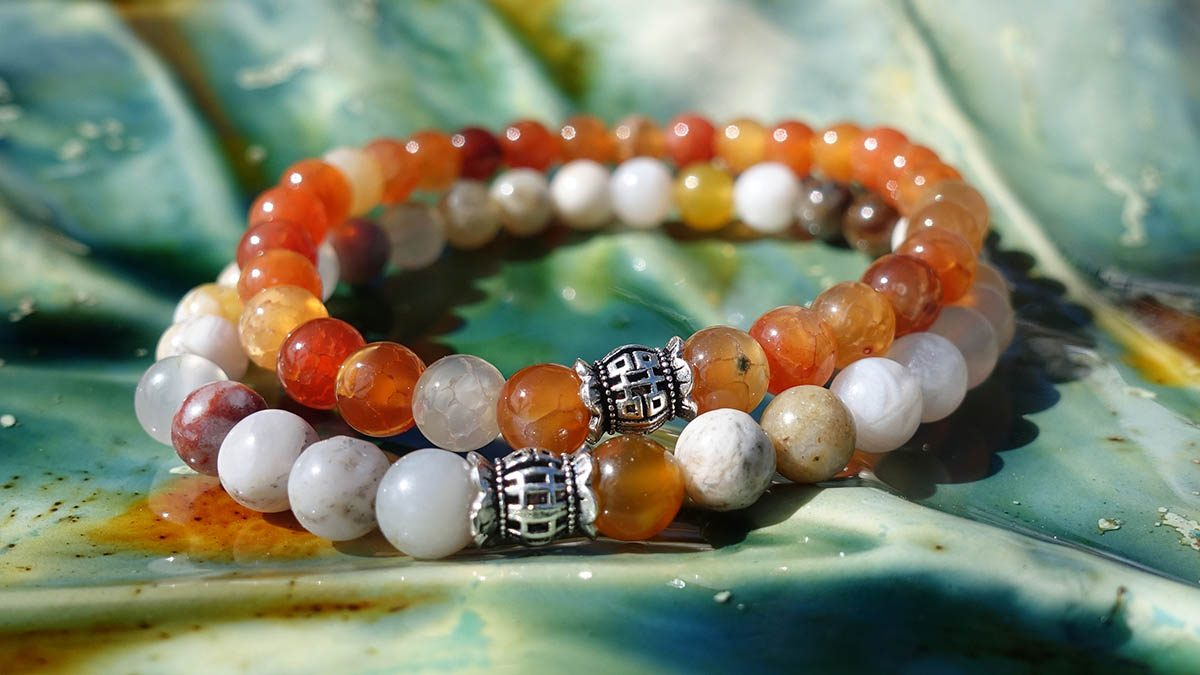 Candy Amazoniet x Red Ice Agate Setting 2