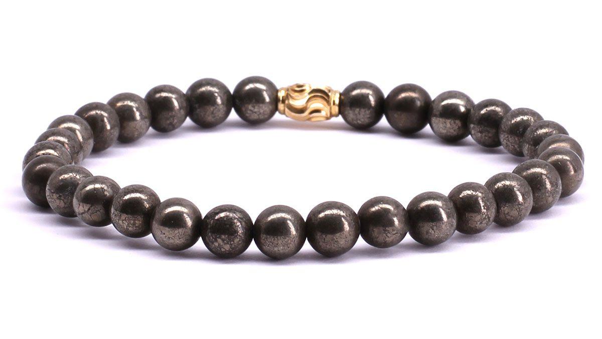 FortunaBeads Premium Pyrite bracelet Back image
