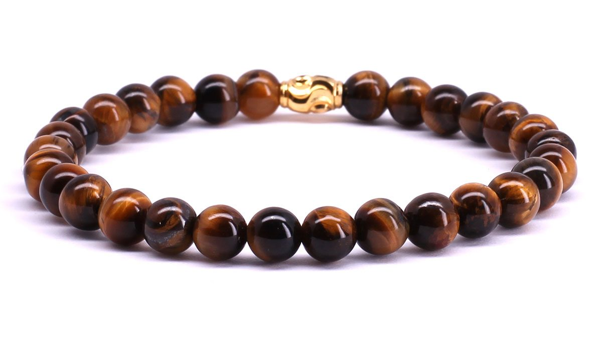 FortunaBeads Premium Brown Tiger Eye bracelet Back image