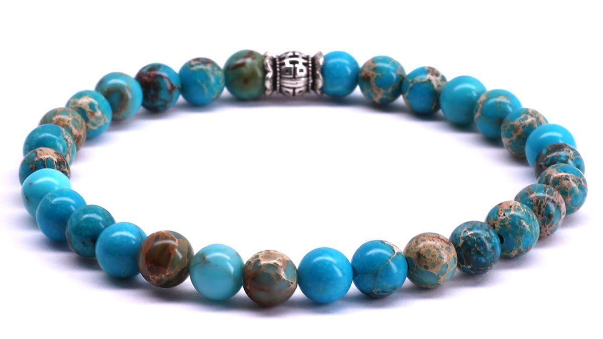 FortunaBeads Candy Regalite Sky Blue bracelet Back image