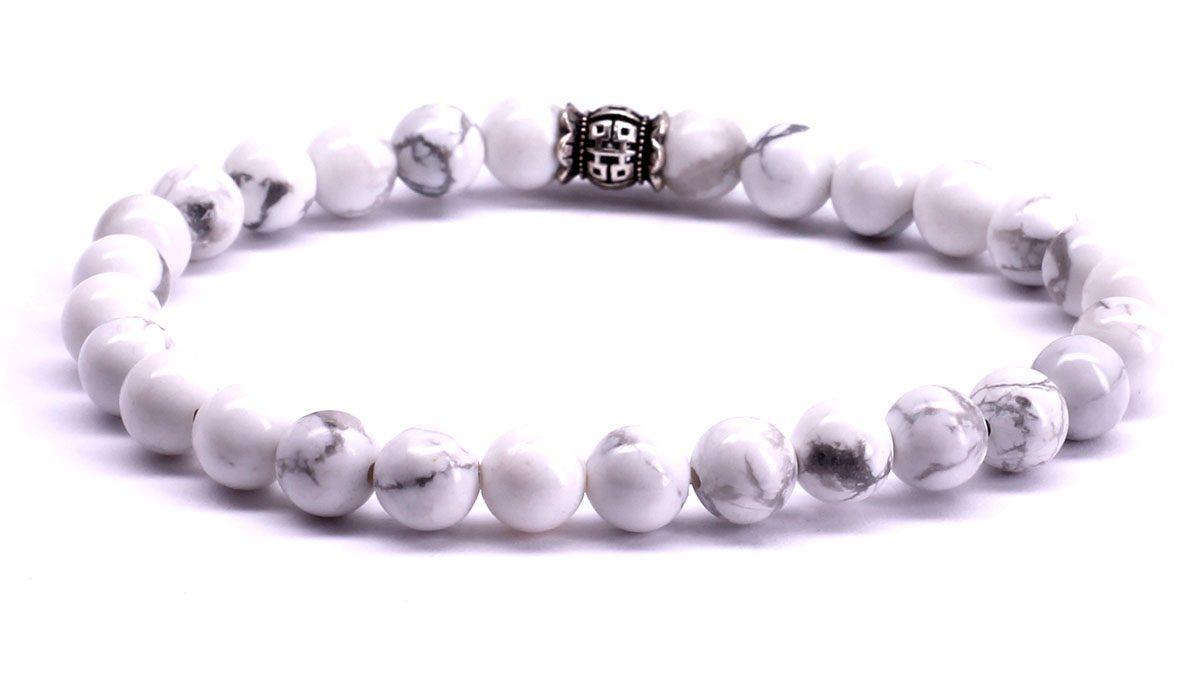 FortunaBeads Candy White Howlite bracelet Back image