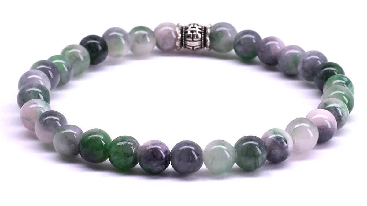 FortunaBeads Candy Jade Medium Sea Green bracelet Back image