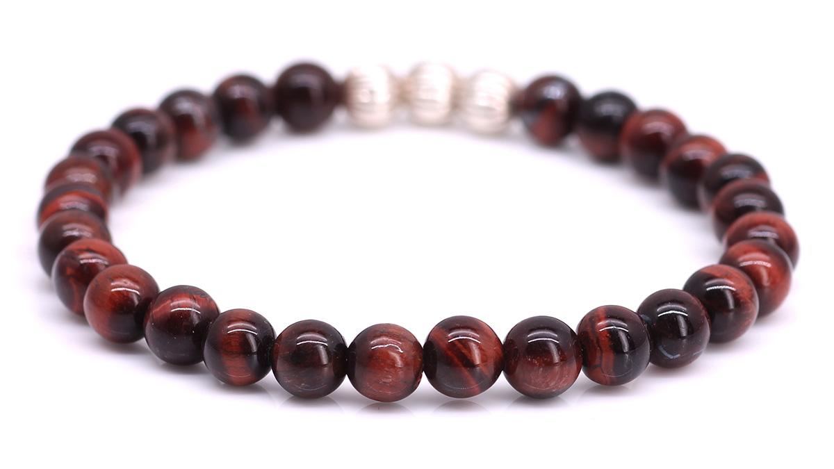 Minimal Red Tiger Eye bracelet Product image back