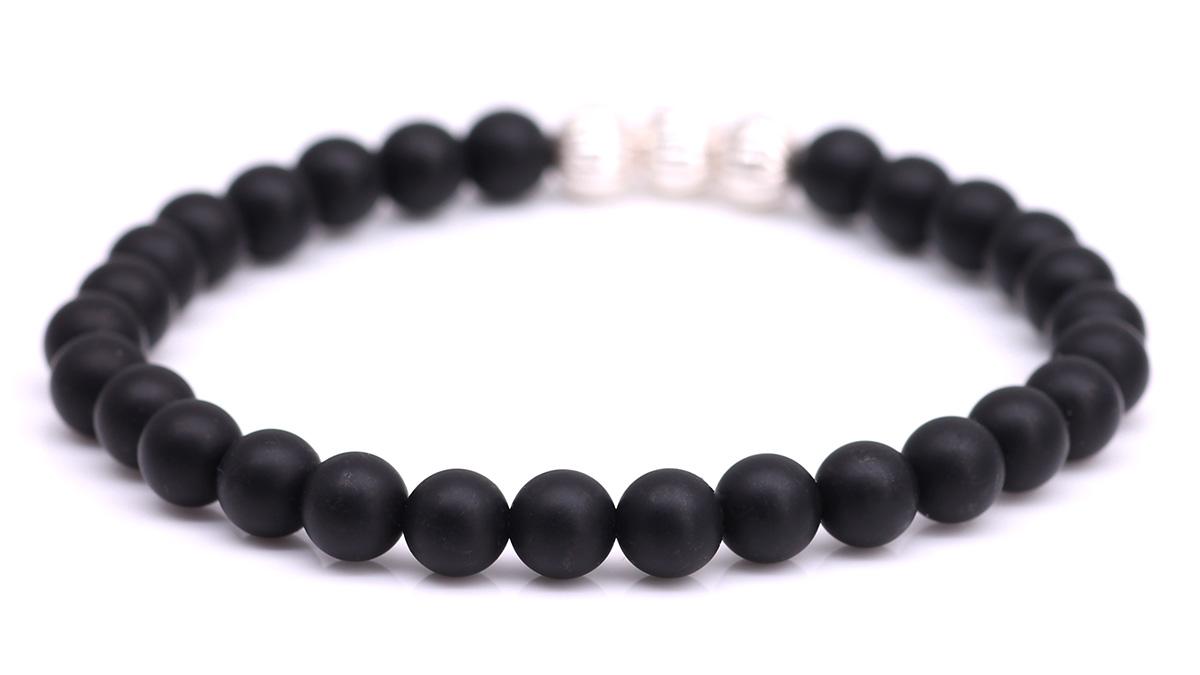 Minimal Black Onyx bracelet Product image back