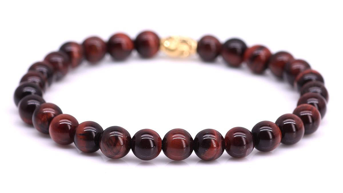 Premium Red Tiger Eye bracelet Product image back