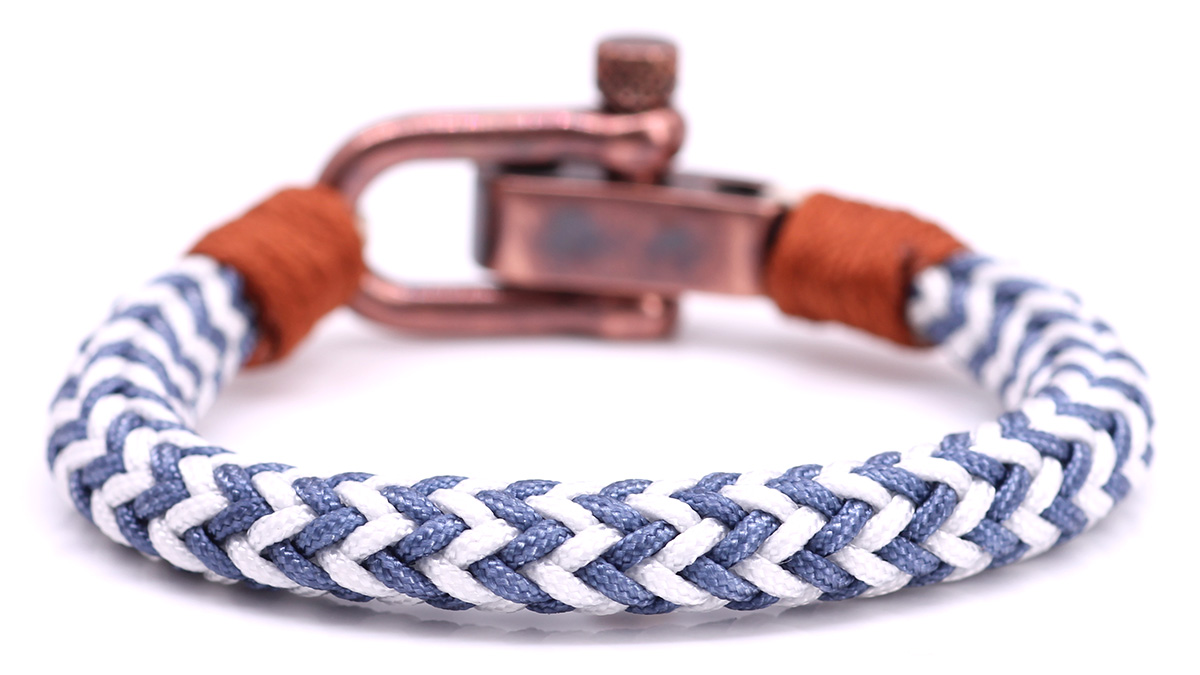 Nautical C3 White Blue bracelet Product image back