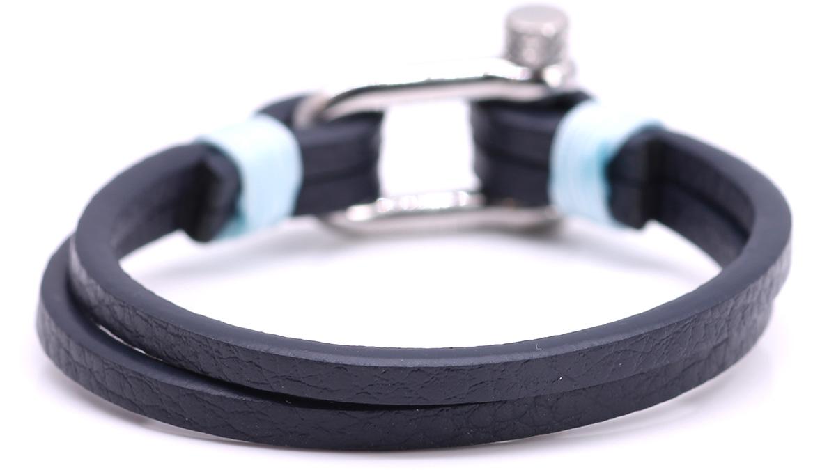 Nautical L3 Blue Leather bracelet Product image back