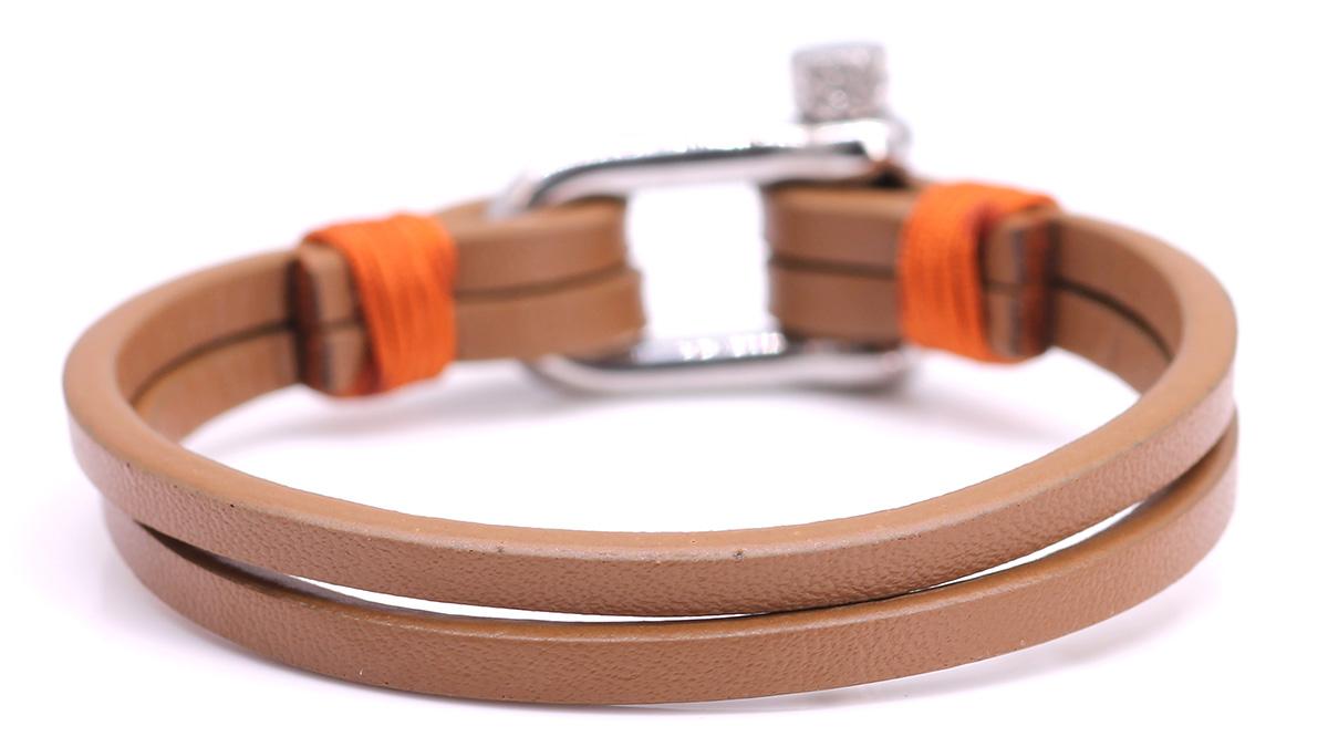 Nautical L4 Cognac Leather bracelet Product image back