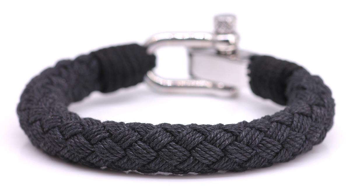 Nautical S2 Black Rope bracelet Product image front back