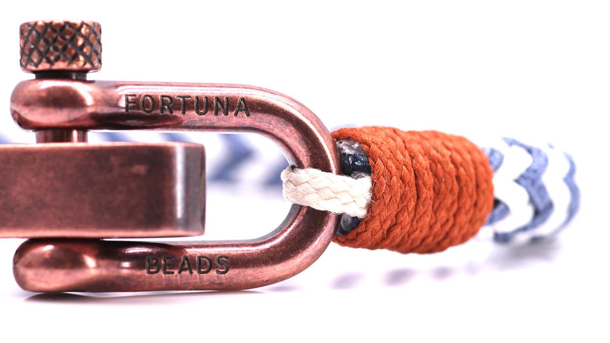 Nautical C3 White Blue bracelet Product image clasp