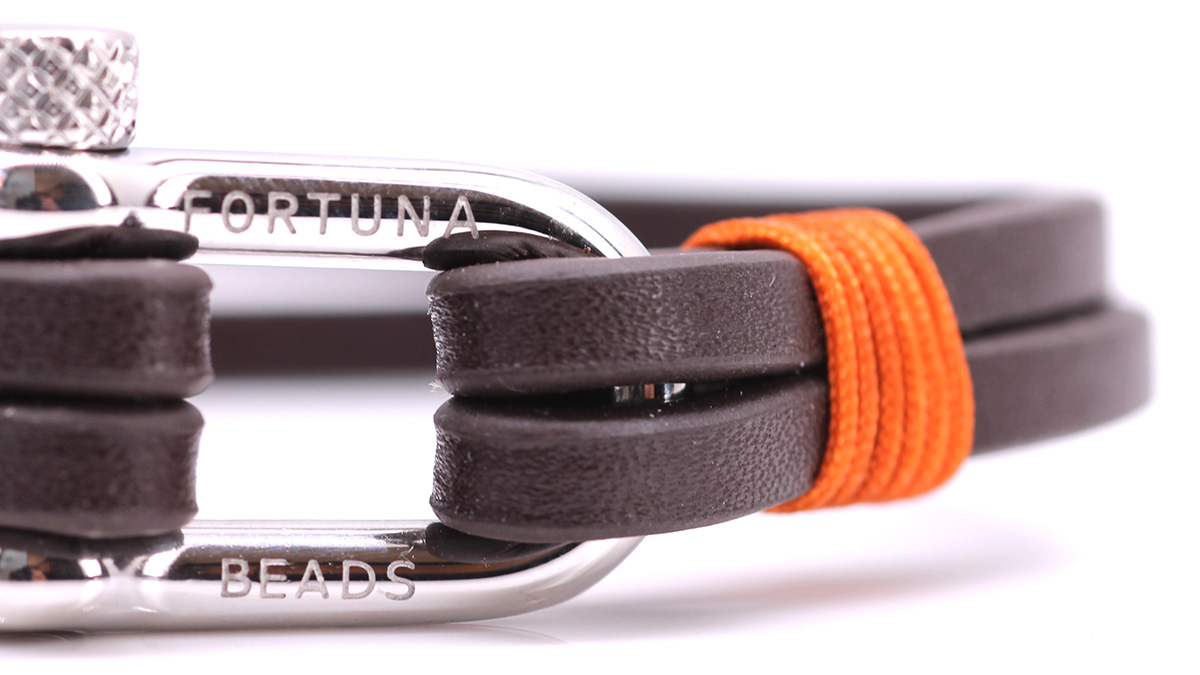 Nautical L2 Brown Leather bracelet Product image clasp