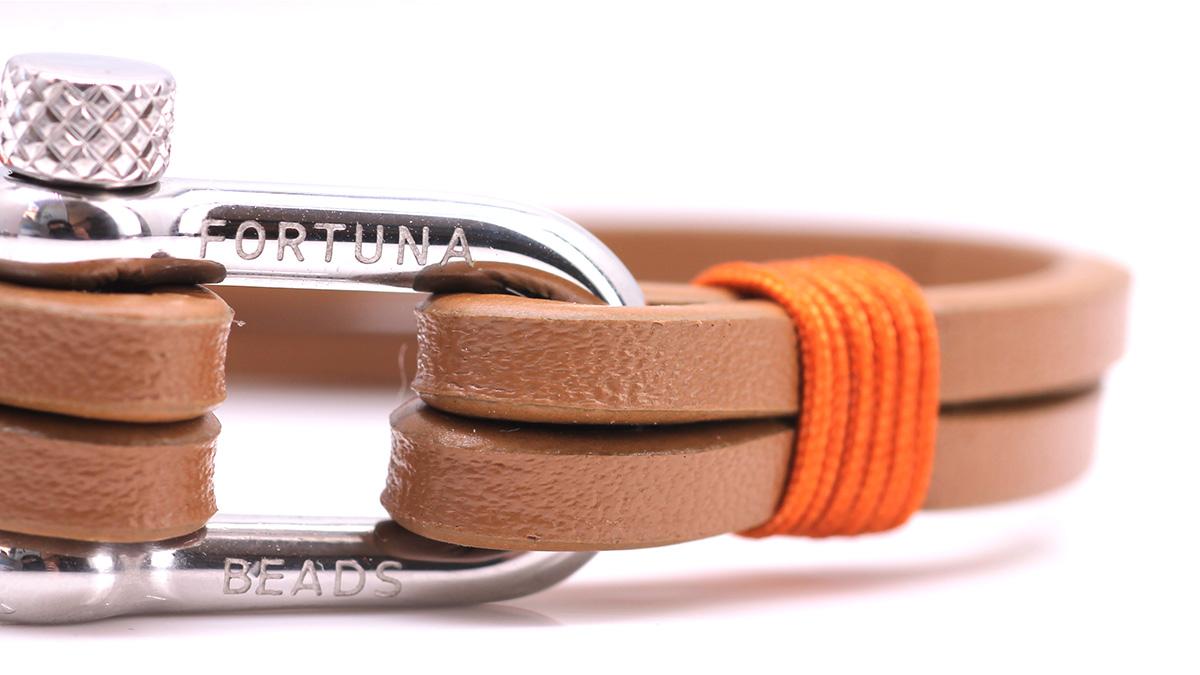 Nautical L4 Cognac Leather bracelet Product image clasp