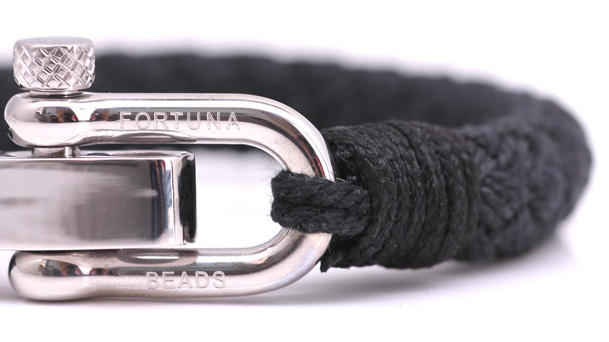 Nautical S2 Black Rope bracelet Product image front clasp