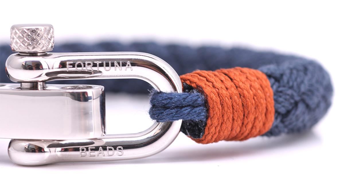 Nautical S3 Blue Rope bracelet Product image front clasp