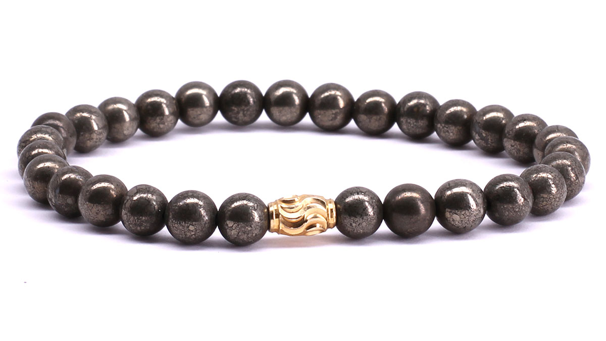 FortunaBeads Premium Pyrite bracelet Front image