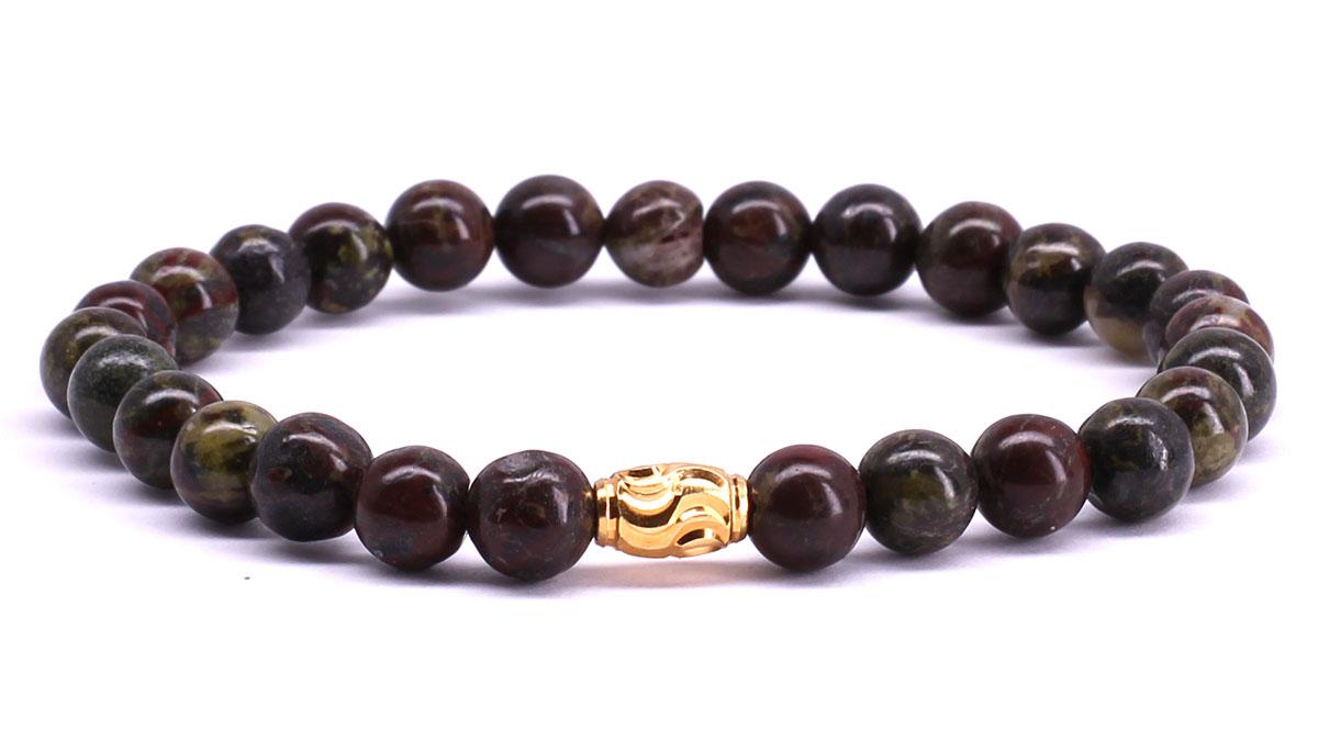 FortunaBeads Premium Dragon Blood Jasper bracelet Front image