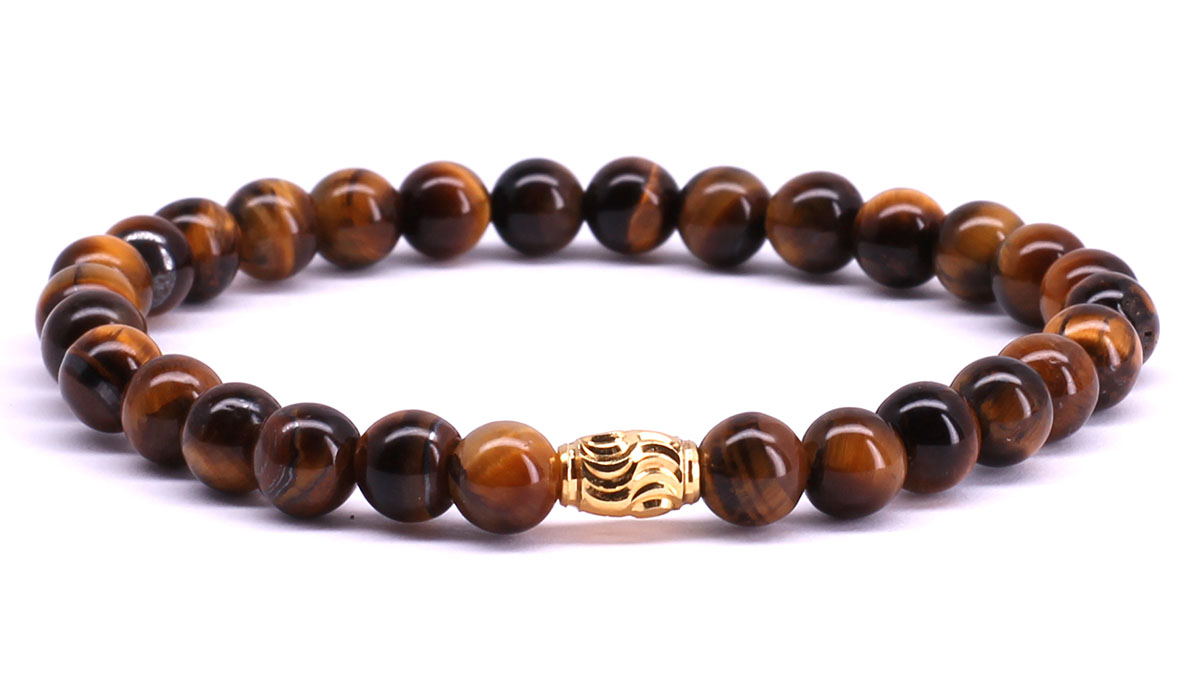 FortunaBeads Premium Brown Tiger Eye bracelet Front image