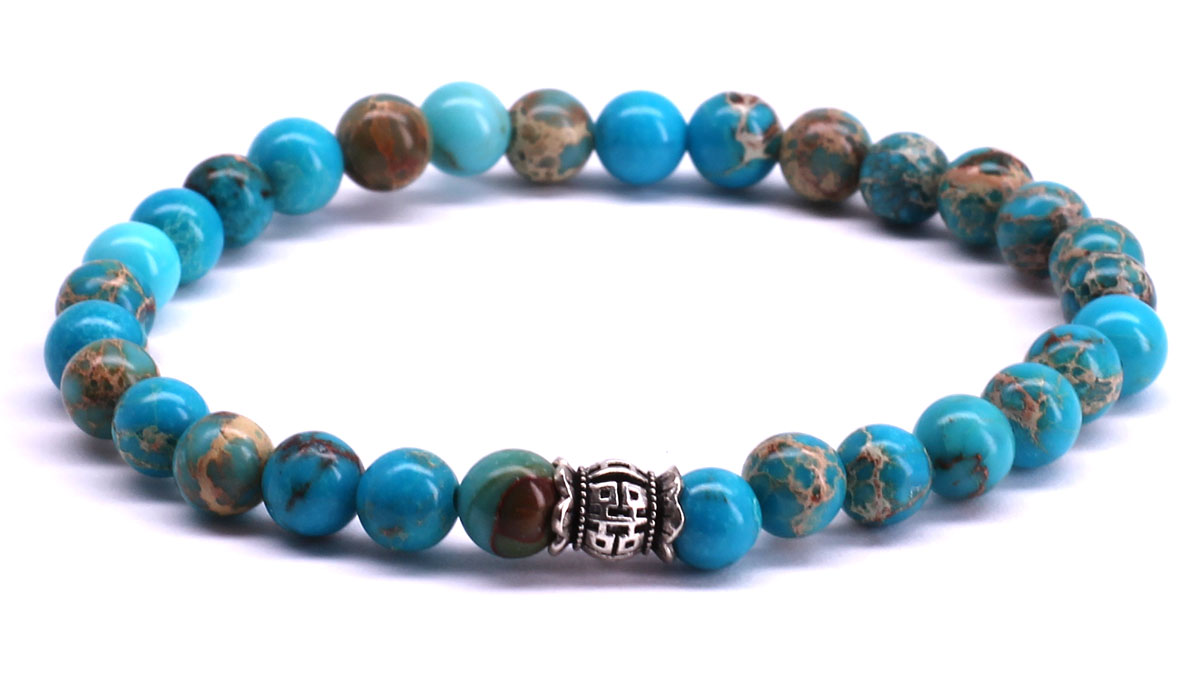 FortunaBeads Candy Regalite Sky Blue bracelet Front image