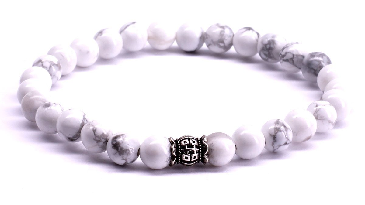 FortunaBeads Candy White Howlite bracelet Front image