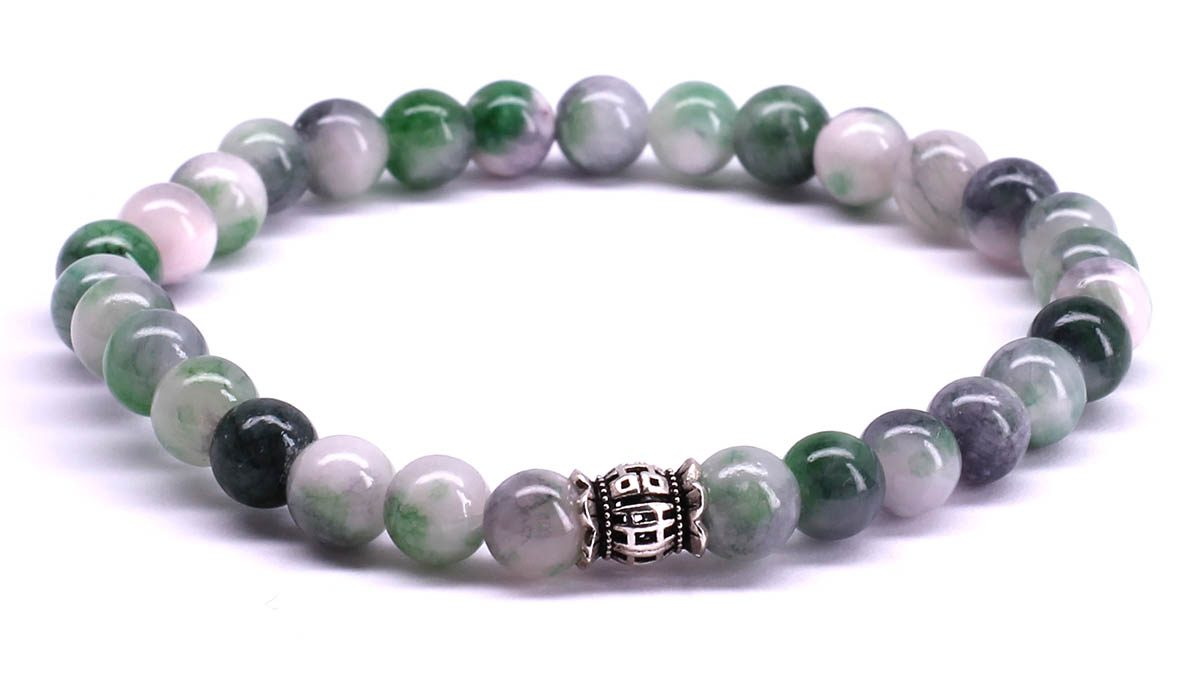 FortunaBeads Candy Jade Medium Sea Green bracelet Front image