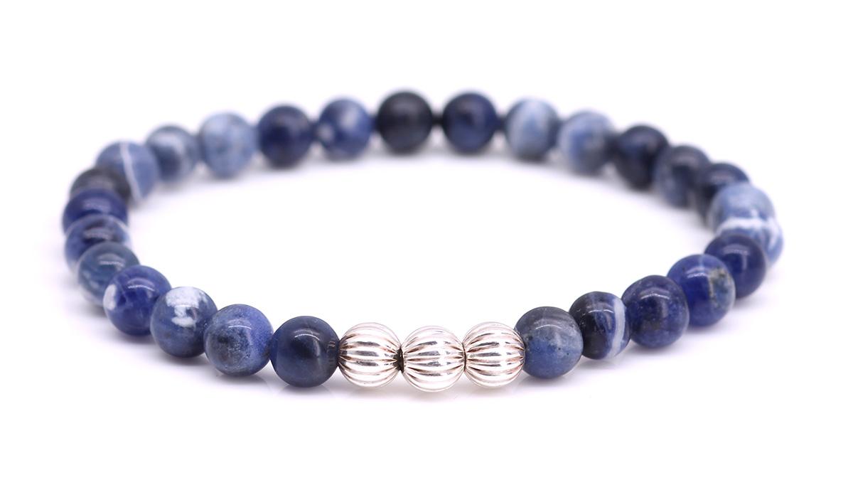 Minimal Blue Sodalite bracelet Product image front