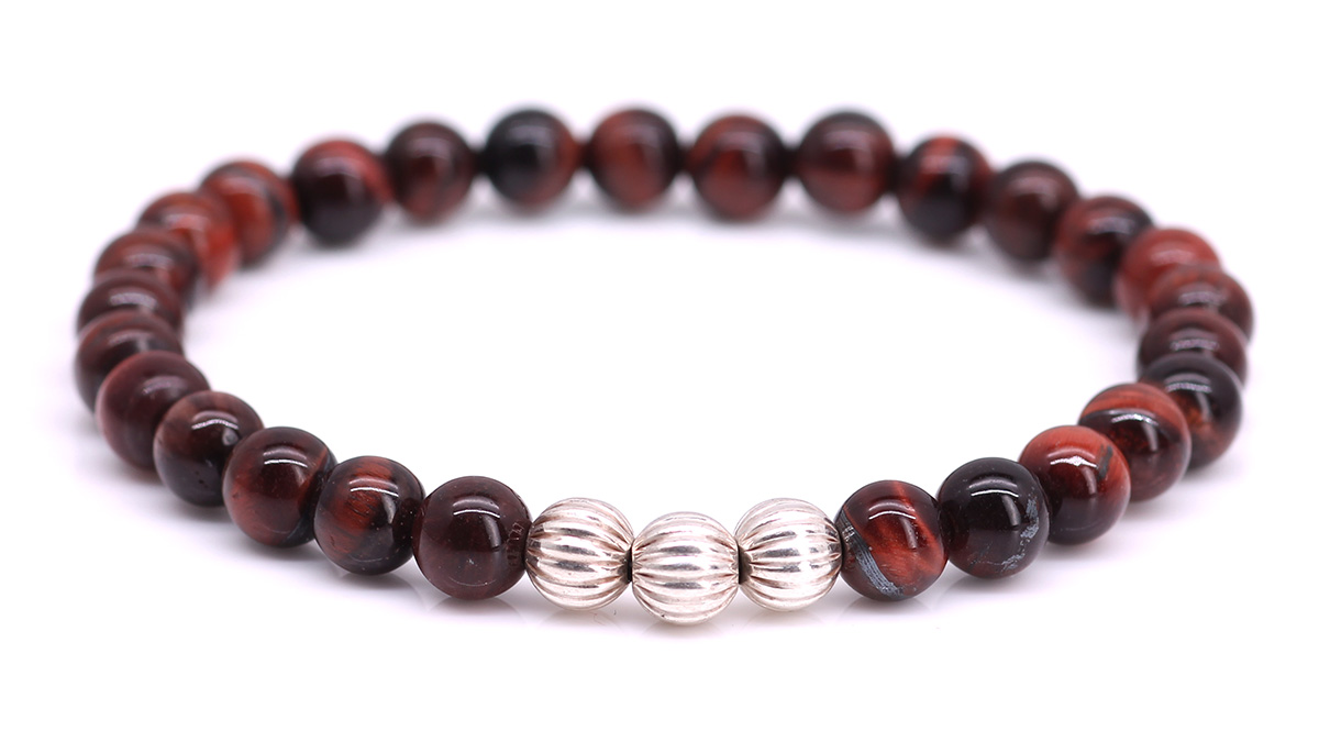 Minimal Red Tiger Eye bracelet Product image front