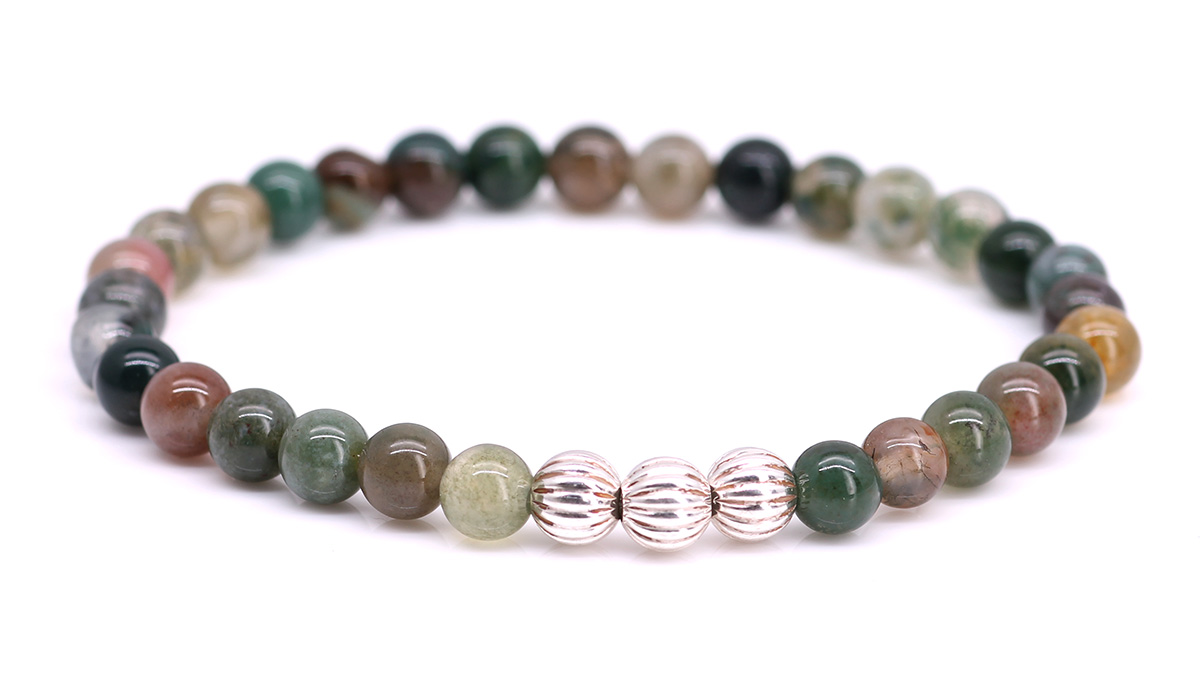 Minimal Indian Agate bracelet Product image front
