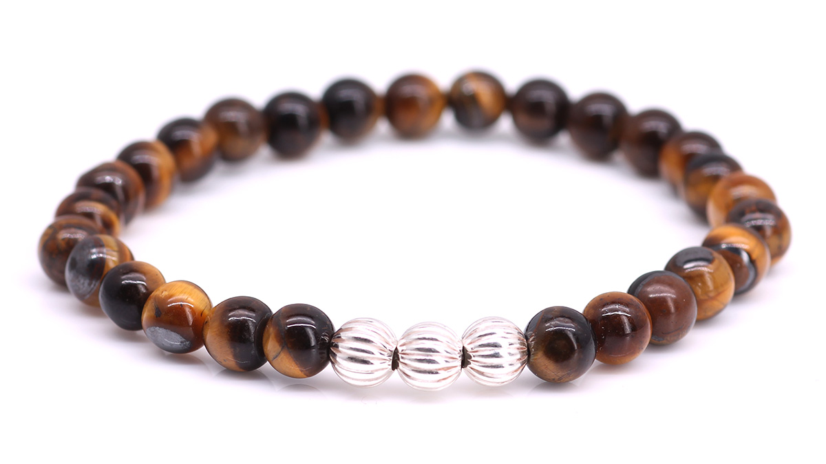 Minimal Brown Tiger Eye bracelet Product image front