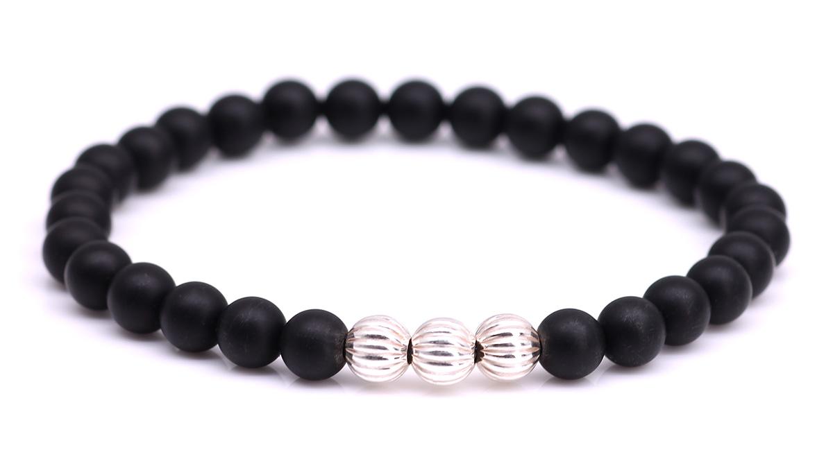 Minimal Black Onyx bracelet Product image front