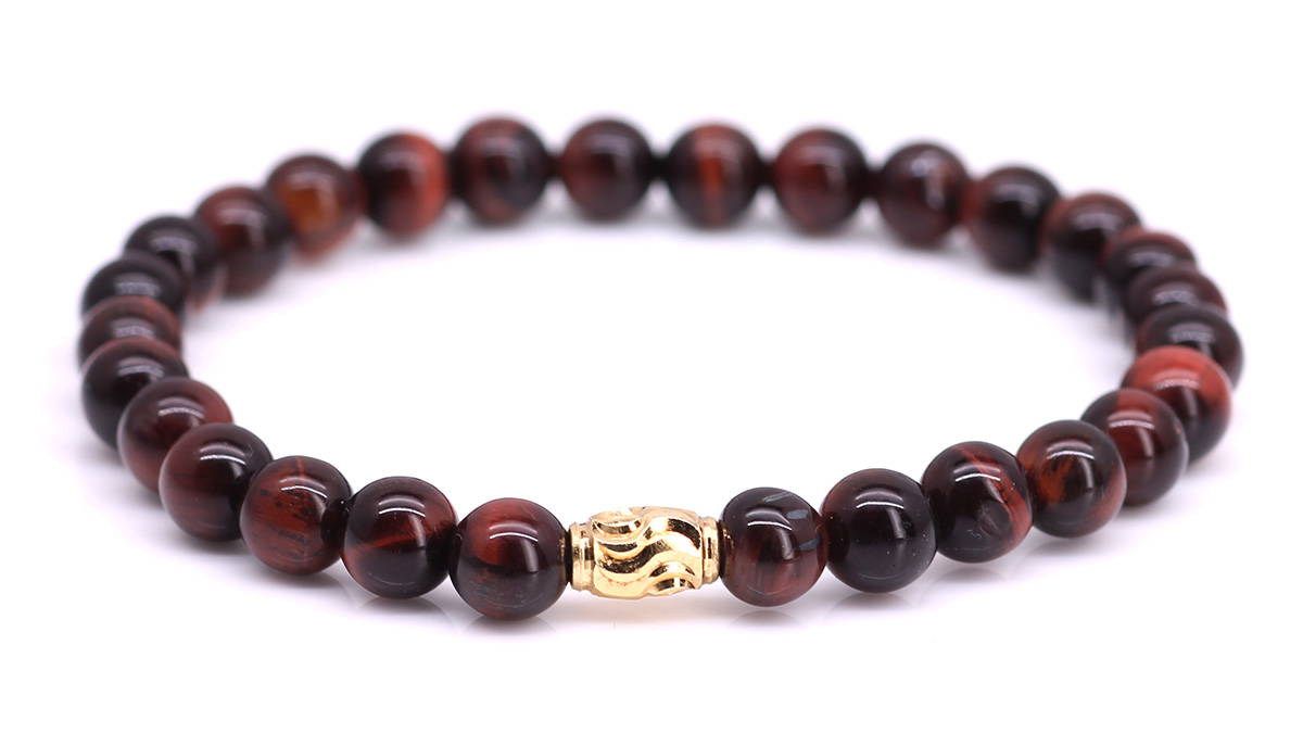 Premium Red Tiger Eye bracelet Product image front