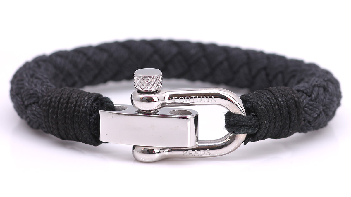 Nautical S2 Black Rope bracelet Product image front front