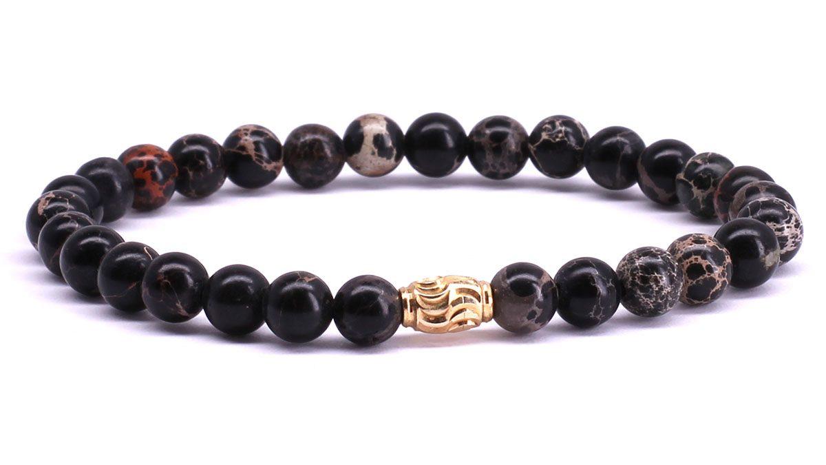 FortunaBeads Premium Regalite Black bracelet Front image