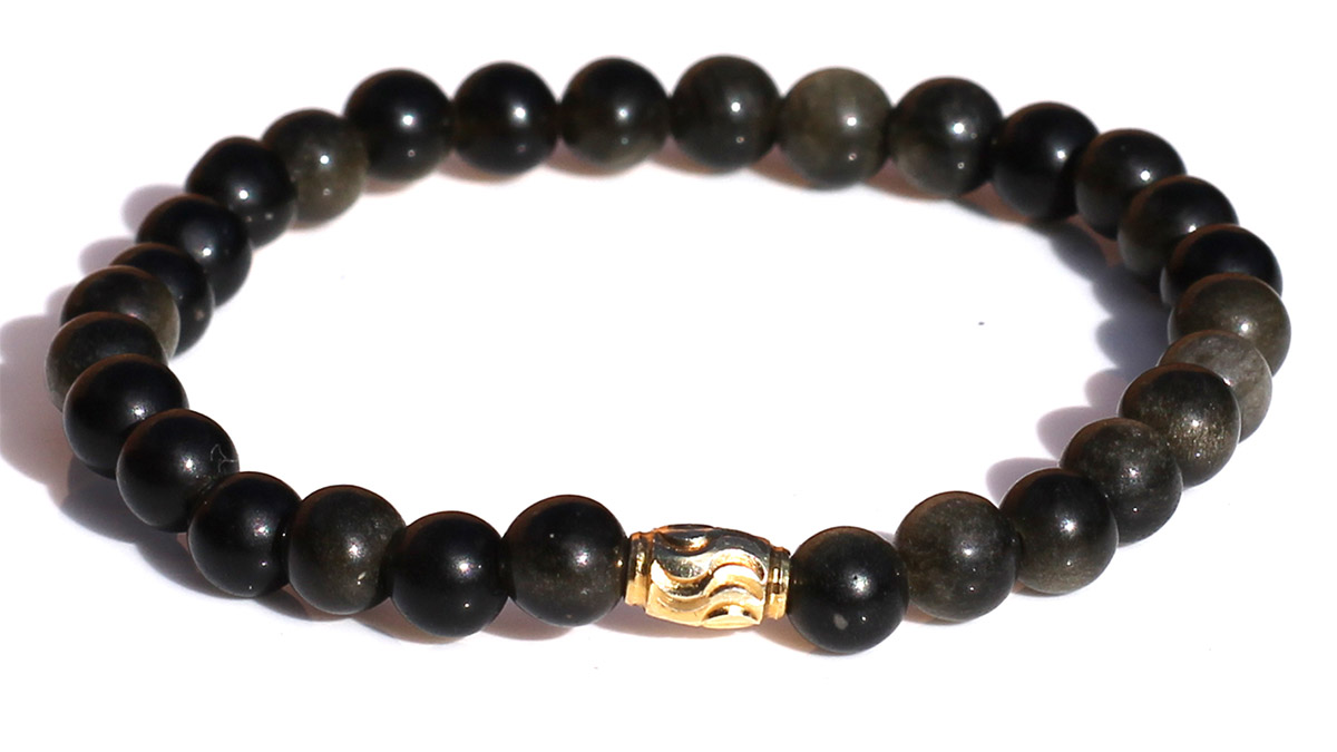 Premium Gold Sheen Obsidian Product Image Front