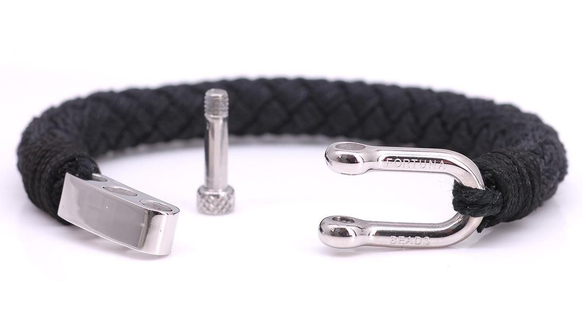 Nautical S2 Black Rope bracelet Product image front open