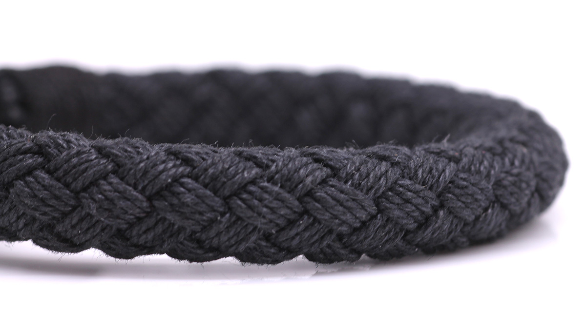 Nautical S2 Black Rope bracelet Product image front rope