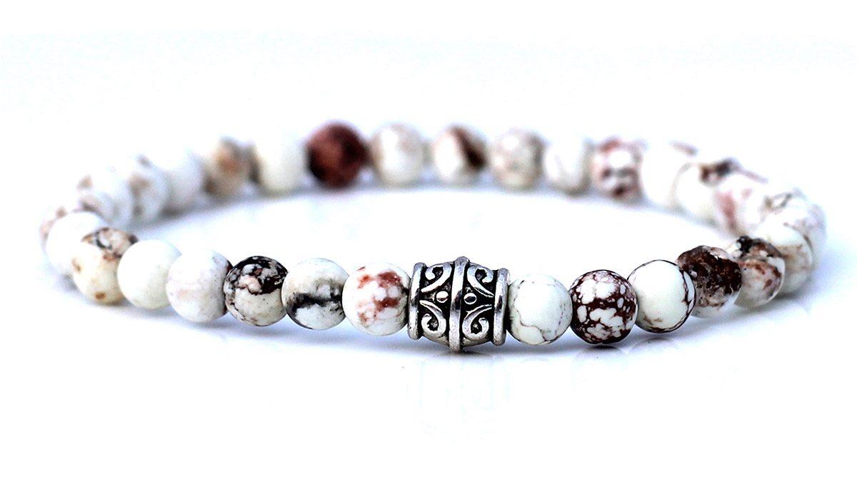 Beige Howlite Bracelet set