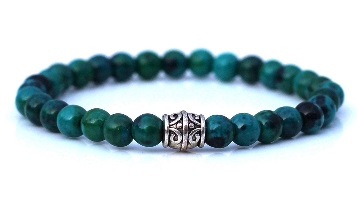 Chrysocolla bracelet set
