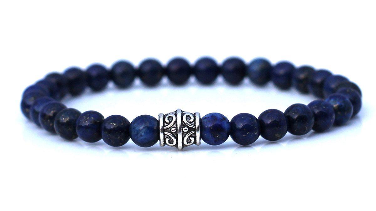 Blue Lapis lazuli bracelet set