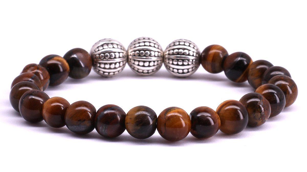 FortunaBeads Gili Basic Brown Tiger Eye bracelet Back image