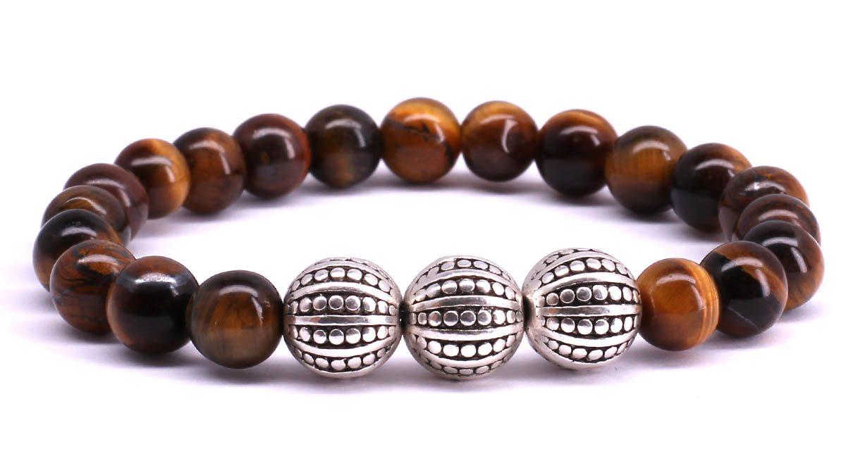 FortunaBeads Gili Basic Brown Tiger Eye bracelet Front image