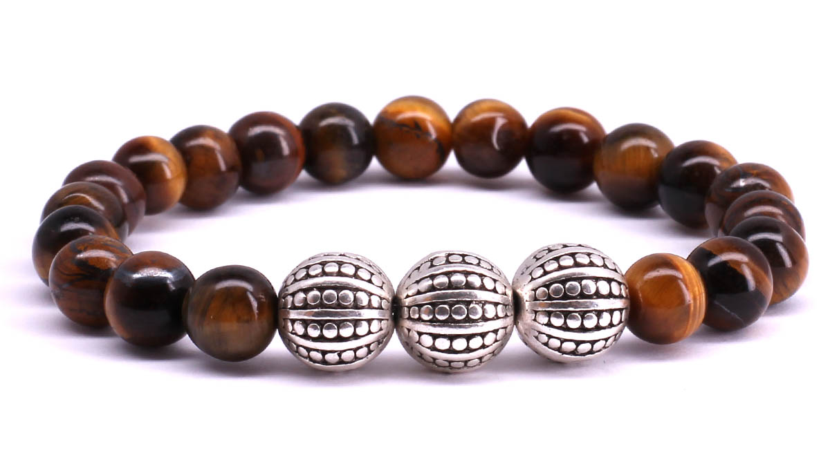 FortunaBeads Gili Basic Brown Tiger Eye bracelet Front image